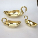 India Overseas Trading BR 2516 Brass Swan Dish Set
