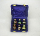 India Overseas Trading BR 2523 Brass Mini Bottles in Velvet Box