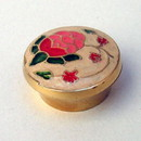 India Overseas Trading BR 2537 Pill Box, Brass Enamel