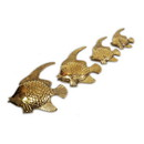 India Overseas Trading BR 2549 Brass Sea Gold Fish set of 4 Nautical decor