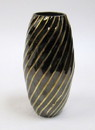 India Overseas Trading BR 2561 Solid Brass Vase, Black  Gold Diagonal