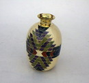 India Overseas Trading BR 2571 Solid Brass Aztec Vase