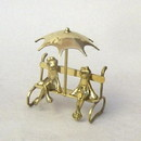 India Overseas Trading BR 2846 Brass Frogs