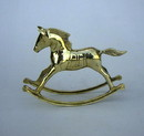 India Overseas Trading BR 2857 Solid Brass Rocking Horse