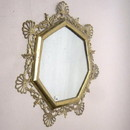 India Overseas Trading BR31007 - Brass Wall Mirror 7 Side