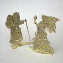 India Overseas Trading BR 3130 Brass Santa And Angle Set