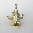 India Overseas Trading BR31323 - Brass Christmas Tree Candle Holder