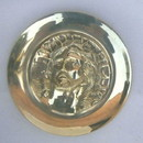 India Overseas Trading BR36021 - Brass Francis Wall Plate