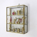 India Overseas Trading BR 40102 Brass  Glass Miniature Showcase