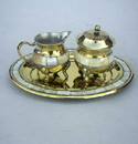 India Overseas Trading BR 40421 Solid Brass Mother of Pearl Set