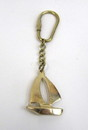 India Overseas Trading BR48201S - Solid Brass Nautical Keychain Sailboat