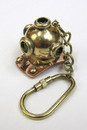 India Overseas Trading BR48202A - solid brass nautical keychain diver helmet