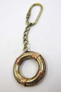 India Overseas Trading BR48202D - solid brass nautical keychain life ring