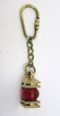 India Overseas Trading BR48202F - solid brass nautical keychain red lamp