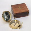 India Overseas Trading BR48348 - Clinometer Compass, Wood Box