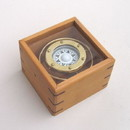 India Overseas Trading BR 48402A Gimbal Compass Wood with Glass Box