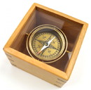 India Overseas Trading BR 48406A Master Gimbal Compass with Wooden Box