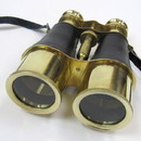 India Overseas Trading BR 48532 Brass Binoculars w Fau