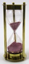 "India Overseas Trading BR4864CP Brass ""MARY ROSE"" 3-min. Hourglass w/ Purple Sand"