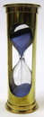 India Overseas Trading BR 4864DB Brass 3-minute Hourglass, Blue Sand