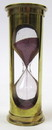 India Overseas Trading BR 4864DP Brass 3-minute Hourglass w Purple Sand