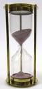 India Overseas Trading BR 4864EP Brass 5-minute Hourglass, Purple Sand