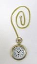 India Overseas Trading BR48659 - solid brass pocket watch with chain. Assorted historical designs.