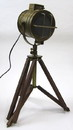 India Overseas Trading BR49002 - Tabletop Vintage Search Light w/ Brown Legs (electric)