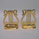 India Overseas Trading BR 60612 Solid Brass Music Bookend Pair, 6