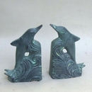 India Overseas Trading BR60619 Dolphin Soapstone Bookends, S, Patina