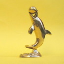 India Overseas Trading BR6128 - Brass Dolphin With Ball