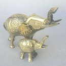 India Overseas Trading BR 6349 Brass Elephant & Baby