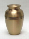 India Overseas Trading BR 6761 Three Bands Brass Urn