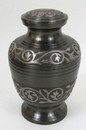 India Overseas Trading BR 6763 Solid Brass Urn, Black
