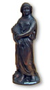 India Overseas Trading BRZ5007 - Bronze Statue, Lady With Wheat
