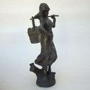 India Overseas Trading BRZ 5025 Bronze Lady With Basket