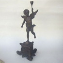India Overseas Trading BRZ5034 - Cupid With Light Statue