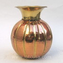 India Overseas Trading CO2190A - Brass Rope Vase Copper Finish