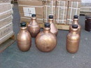 India Overseas Trading CO 2966 Metal Jugs With Corks, Copper Finish