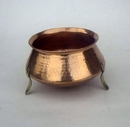 India Overseas Trading CO 4055 Copper Planter With Brass Legs