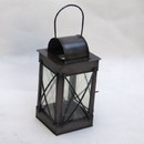 India Overseas Trading IR 1532 Iron Candle Lantern, 4 Side Glass