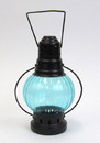 India Overseas Trading IR15377 - iron candle lantern round color glass antique finish
