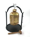 India Overseas Trading IR 19722 Antique Iron Dinner Bell With Wood Mallet