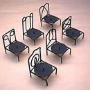 India Overseas Trading IR 22790 Iron chair candle holders set