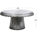 India Overseas Trading IR 4184X Round Galvanized Metal Cupcake Stand
