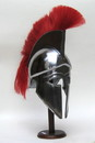 India Overseas Trading IR 80632A Armor Helmet Corinthian With Red Plume