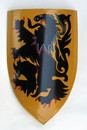 India Overseas Trading IR 80705M Medieval Lion Shield - Hand Painted