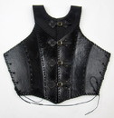 India Overseas Trading IR807238 Black Leather Armor Jacket Vest