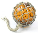 """India Overseas Trading MR4801A Glass & Rope 8"""" Fishing Float (Amber)"""