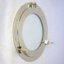 India Overseas Trading MR 48611 Mirror Finish Brass Porthole with Glass, 15